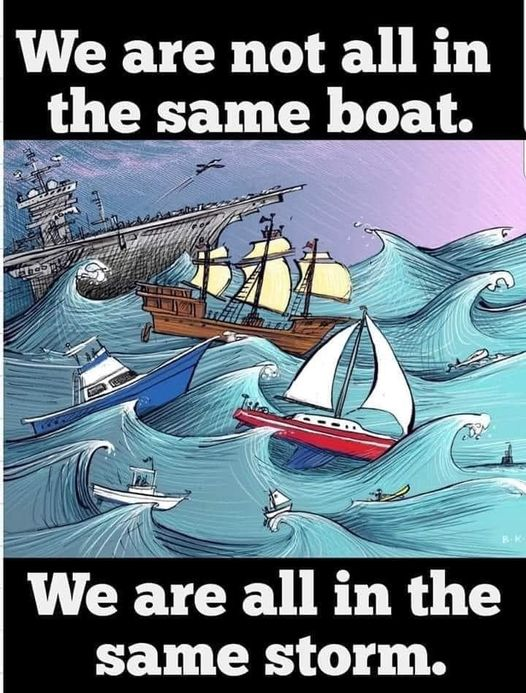 [Image] We're not all in the same boat.