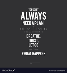 [IMAGE] YOU DON'T ALWAYS NEED A PLAN…
