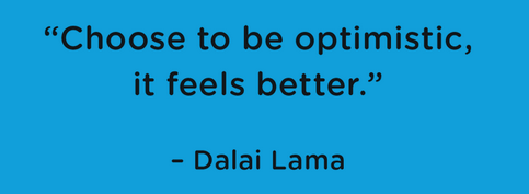 [Image] Choose to be optimistic, it feels better. – Dalai Lama