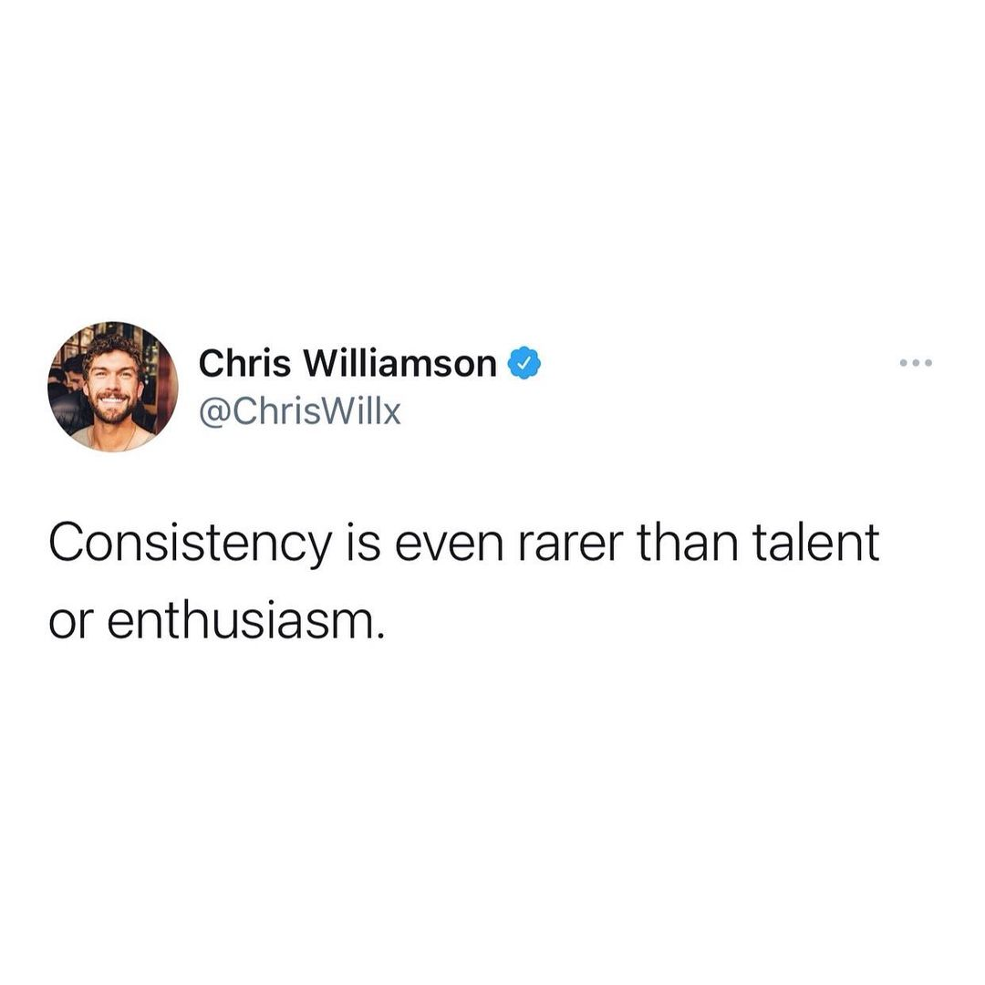 [Image] Verified Don't pray for talent or enthusiasm, pray for the strength to keep going.