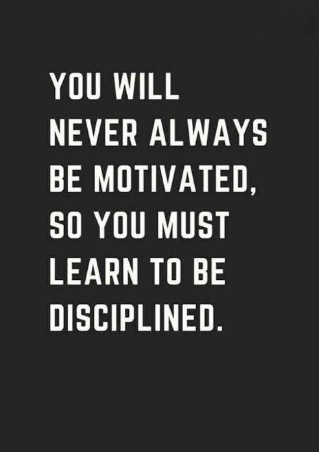 [IMAGE] Cultivating discipline.