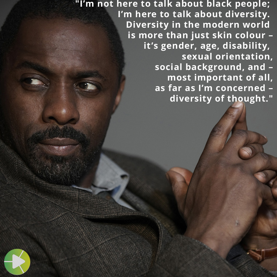 """…diversity of thought."" – Idris Elba [1080 x 1080]"
