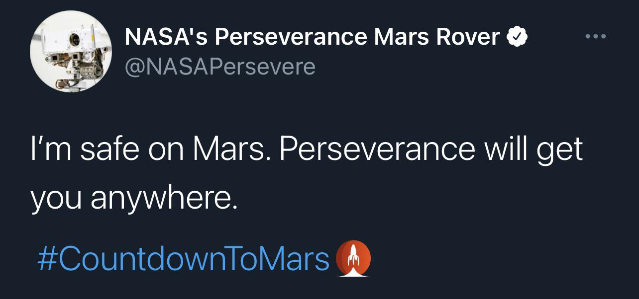 [Image] Perseverance