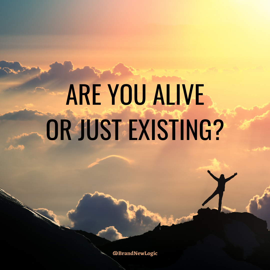 """Are you alive or just existing?"" – Olivia Ruby [1080×1080]"
