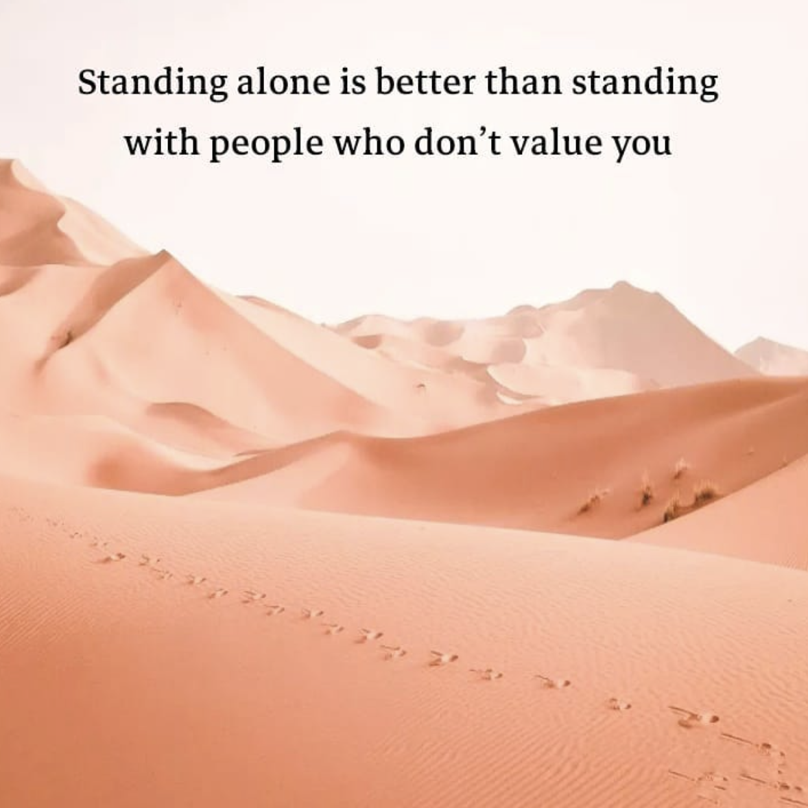 [Image] Standing alone is better than standing with people who don't value you
