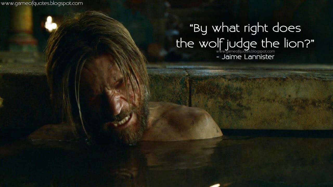 """By what right?"" Jaime Lannister [1280×720]"