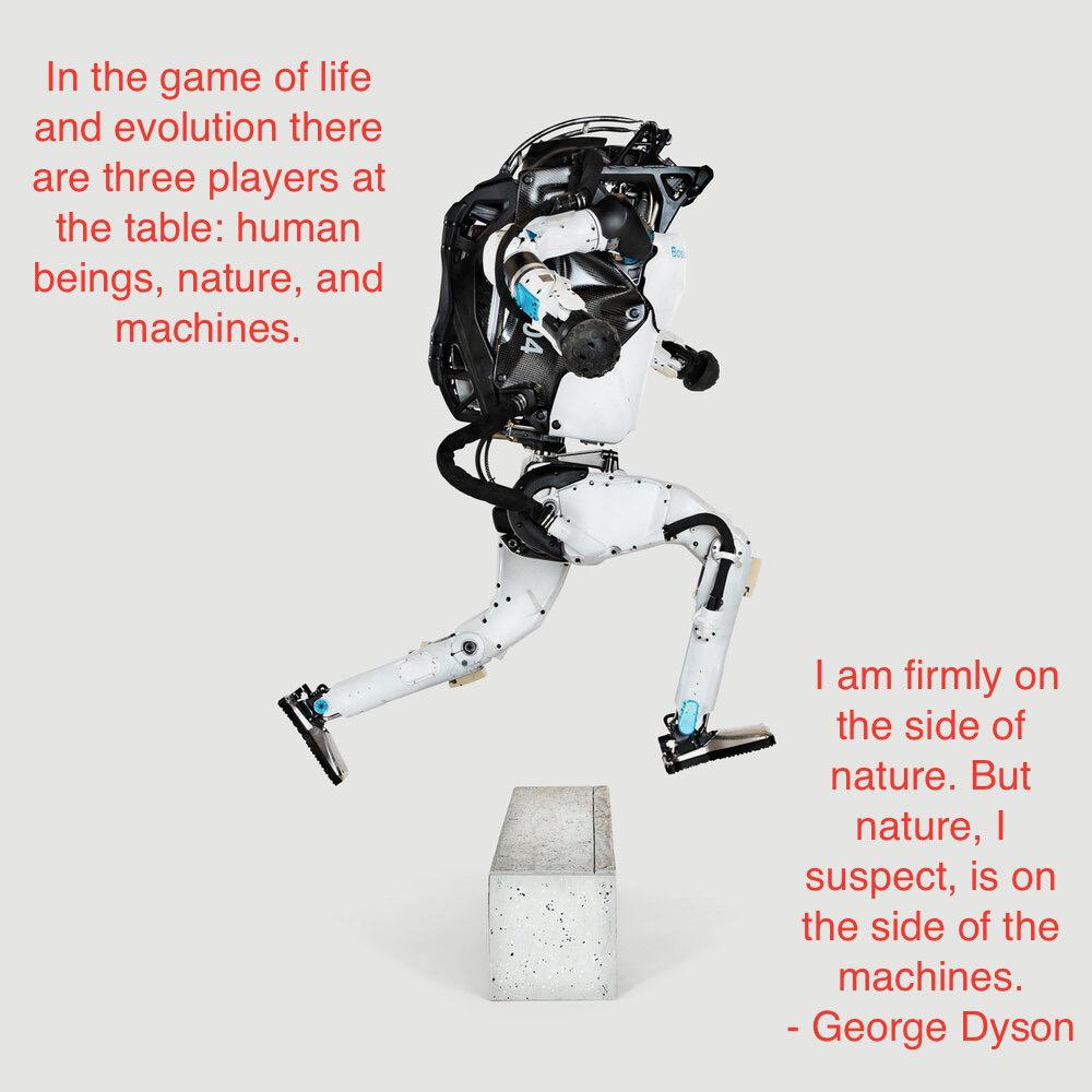 """In the game of life and evolution there are three players…"" – George Dyson [OC] [1000 × 1000]"