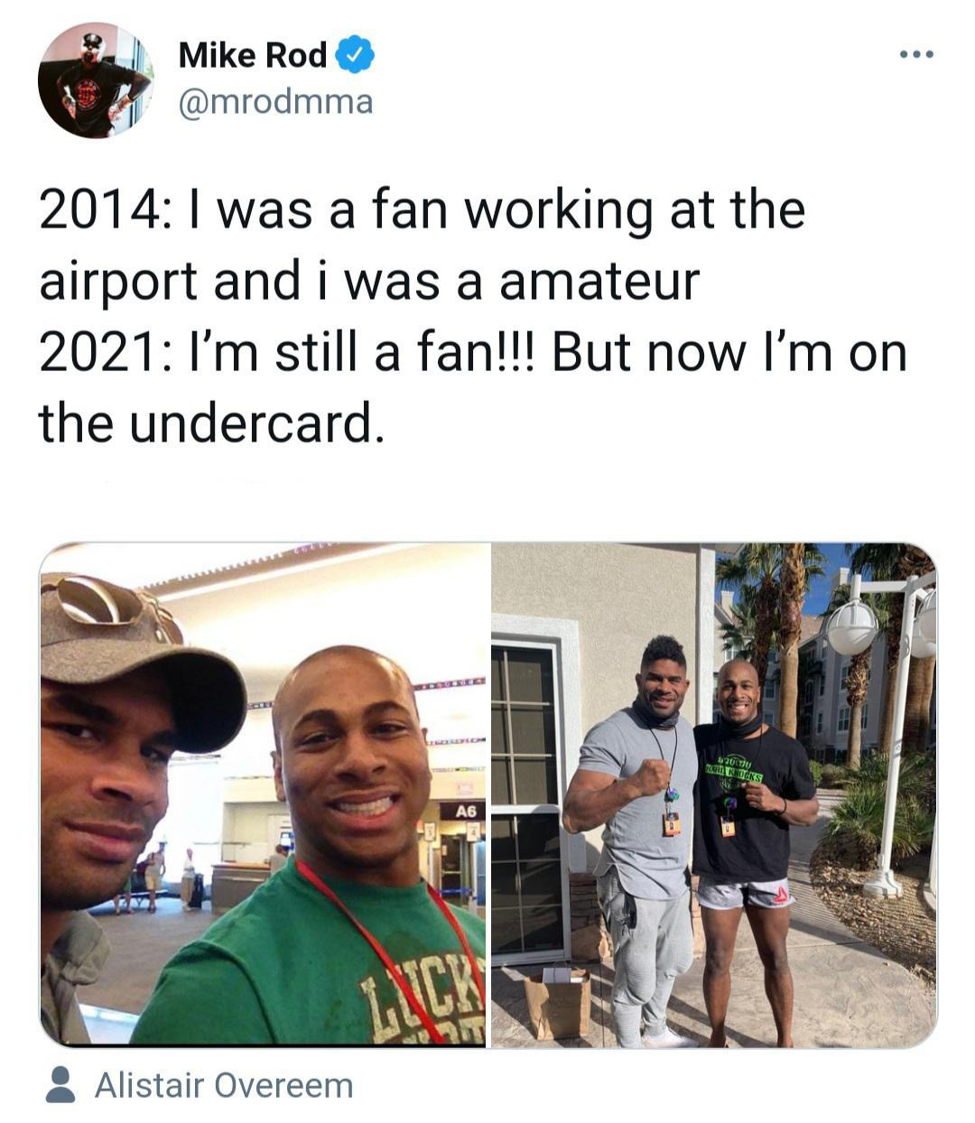 [Image] MMA fighter Mike Rodriguez gives an update 7 years later