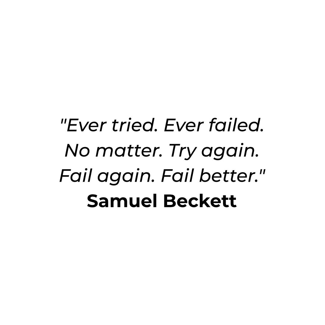 [Image] Fail better.
