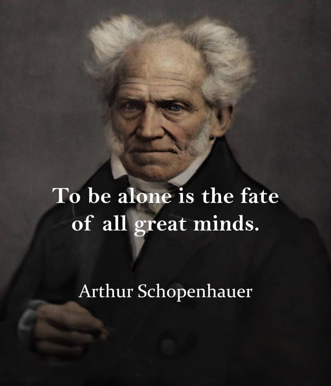 The fate of all great minds… Arthur Schopenhauer | Do you agree? [1125×1312]