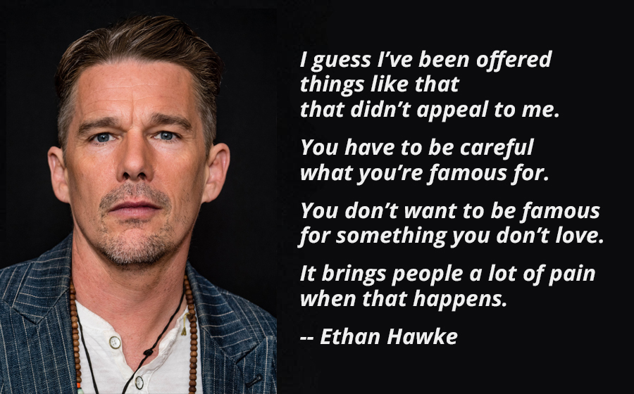 """You have to be careful what you're famous for."" Ethank Hawke [900×560][OC]"