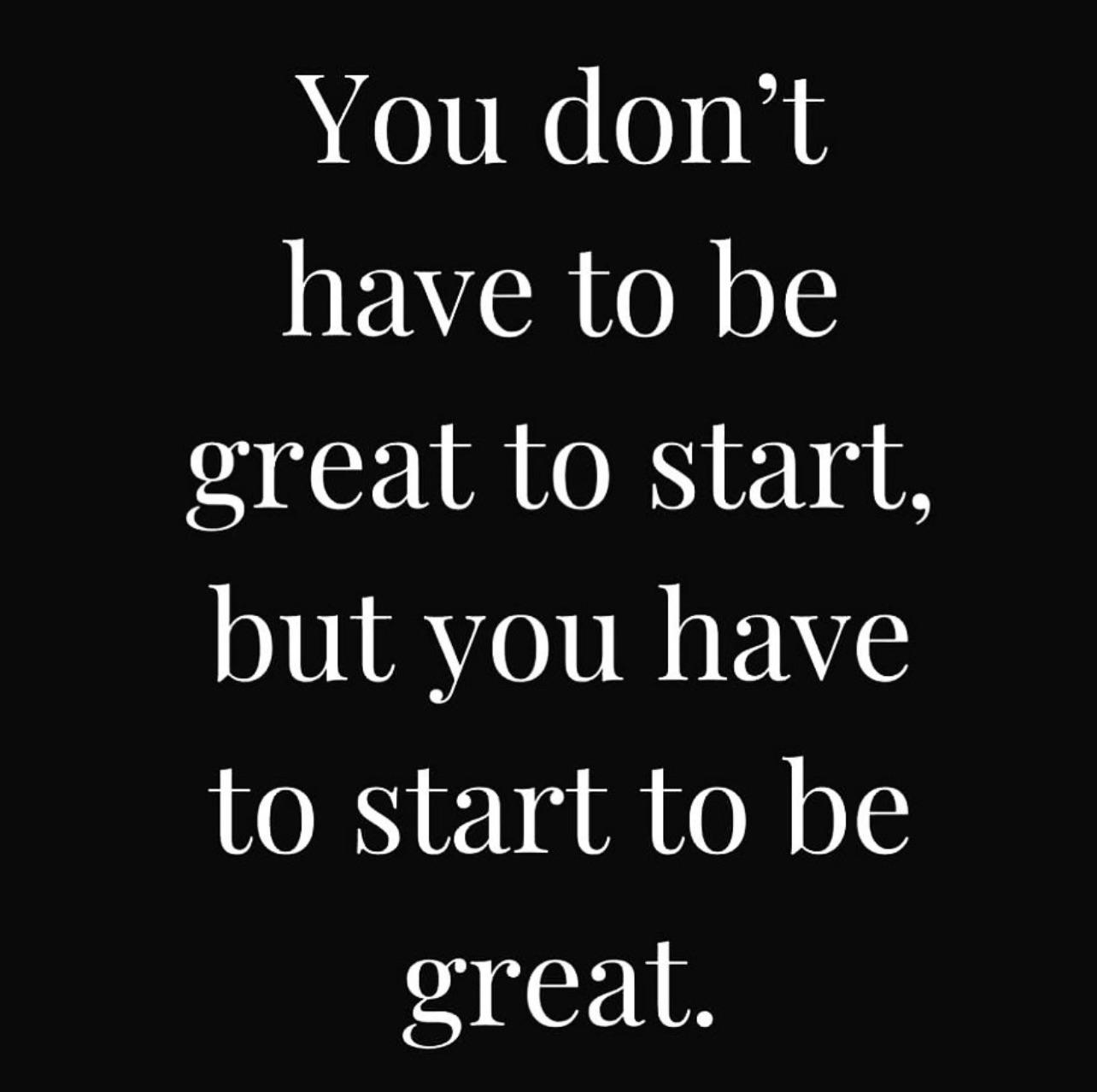 [Image] start great
