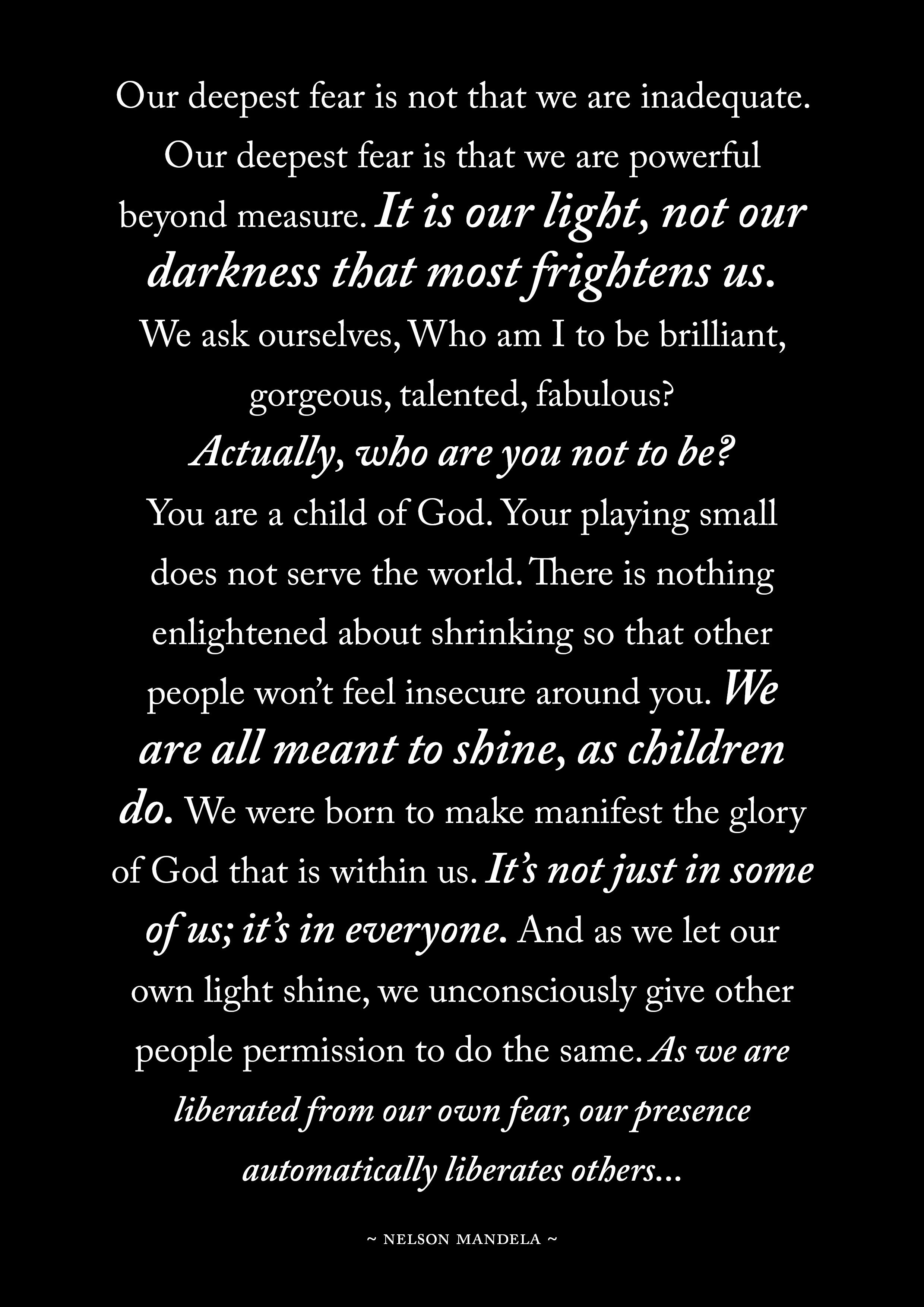 [IMAGE] We are All Meant to SHINE