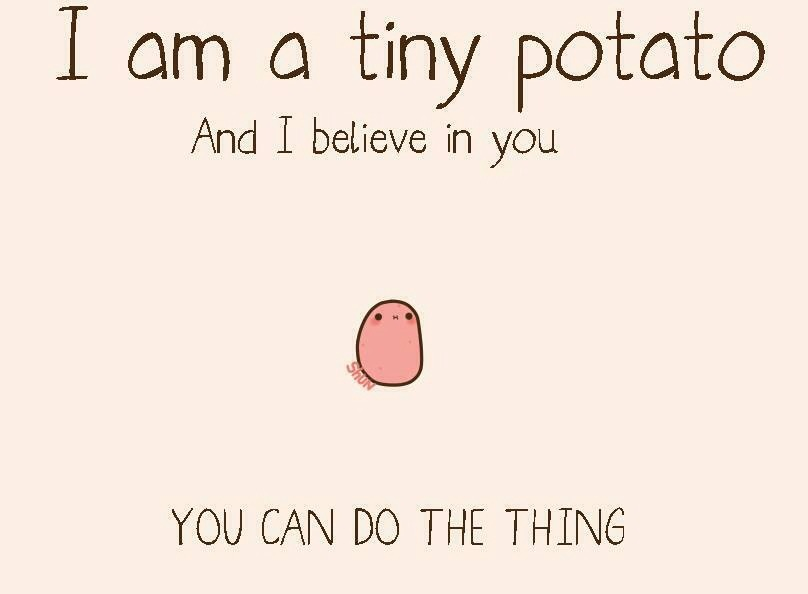 [Image] Tiny Motivational Potato