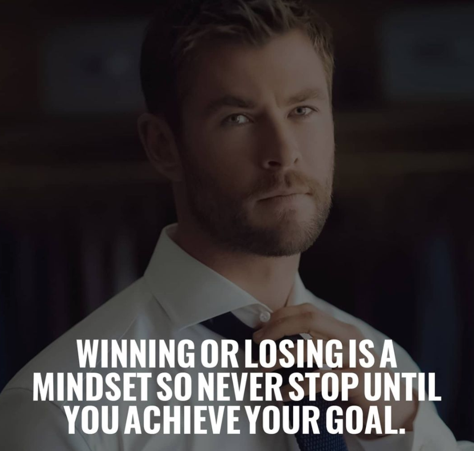 [Image] Winning or losing is a mindset so never stop until you achieve your goal.