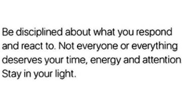 [Image] Stay in your light