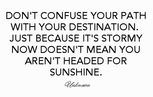 [Image] You're headed for sunshine