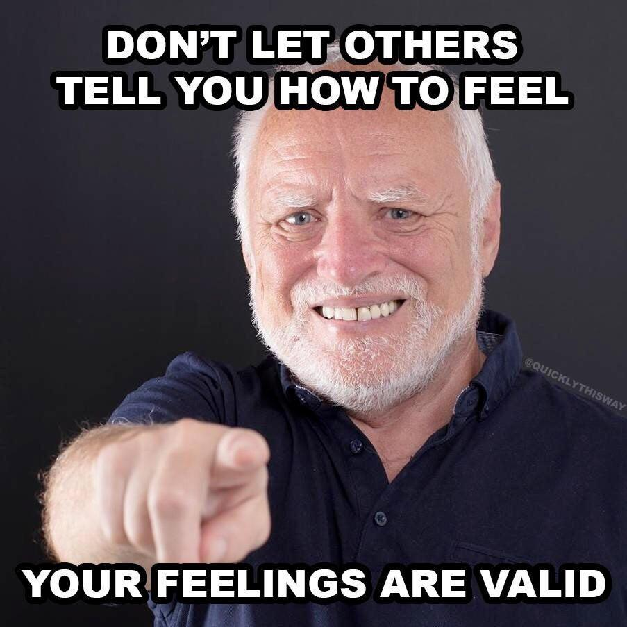 [Image] Your feelings are valid