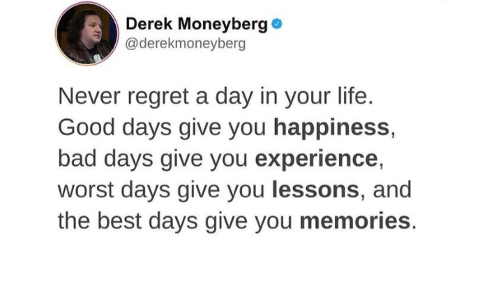 [Image] Regret is a waste of your time