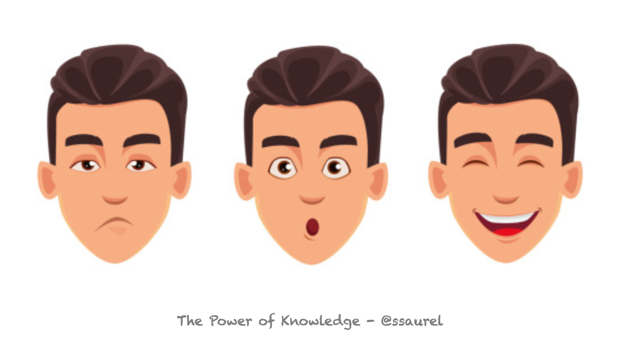 [Image] The Japanese say you have three faces. Make these three facets of your personality converge as much as possible to be truly happy.