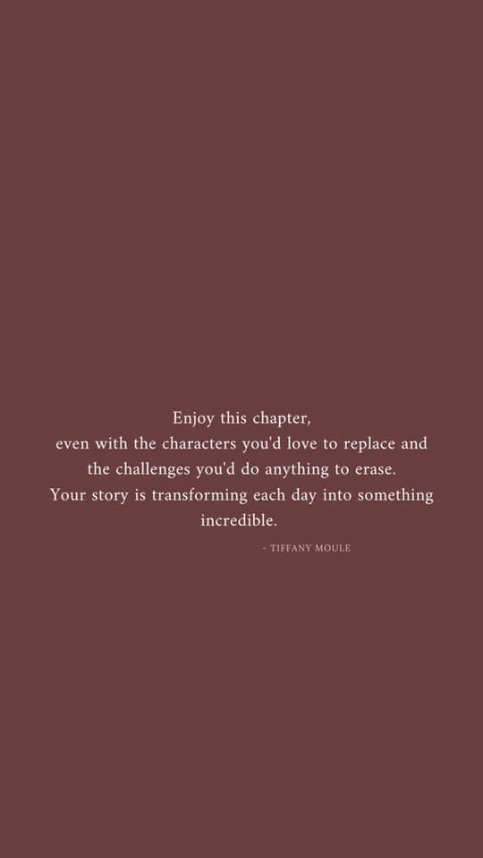 [Image] Enjoy this chapter of your life