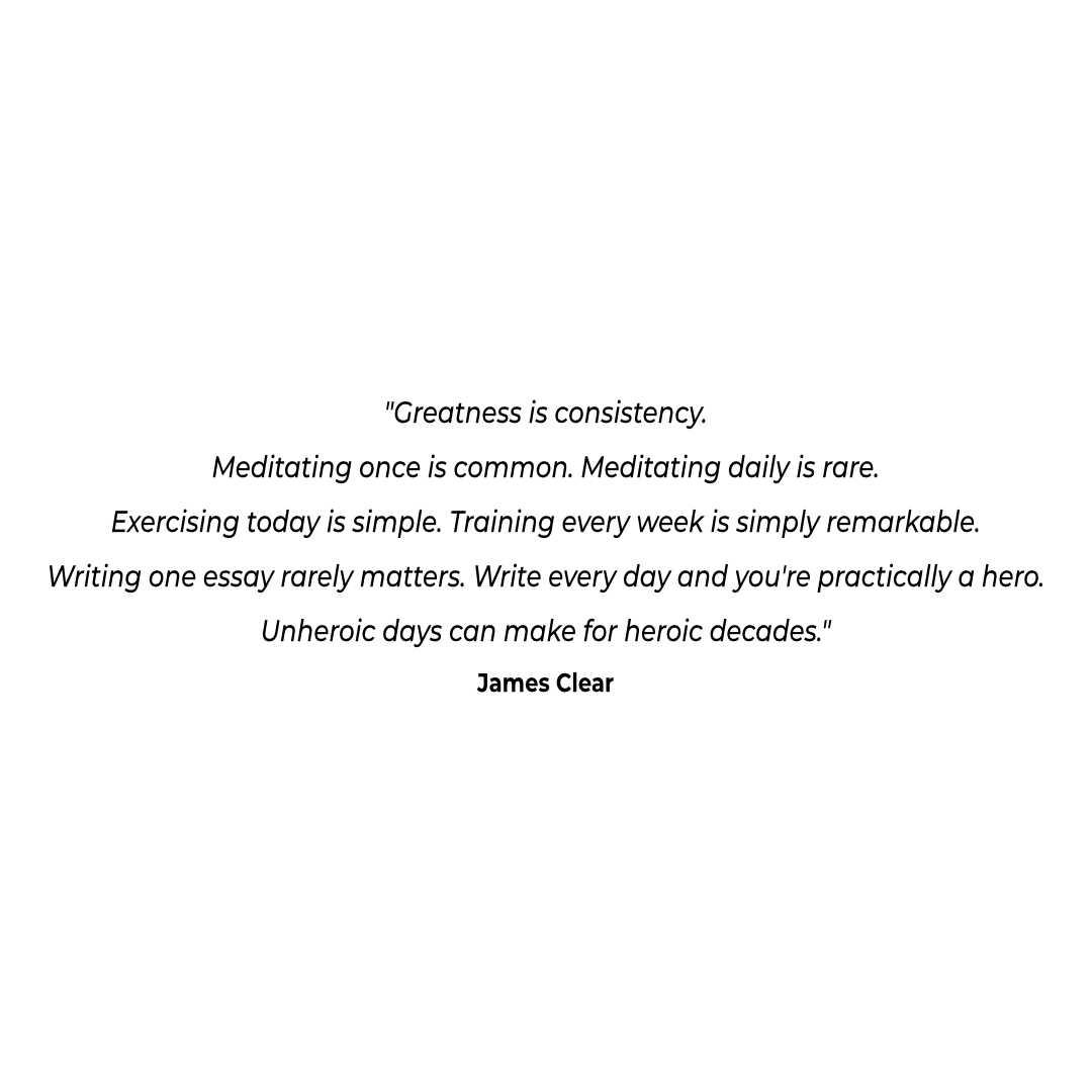 [Image] Greatness is consistency.