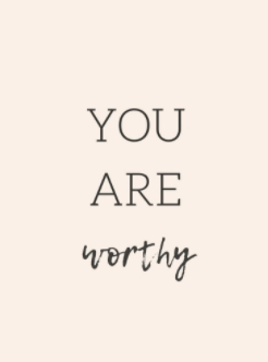 [Image] You are worthy.