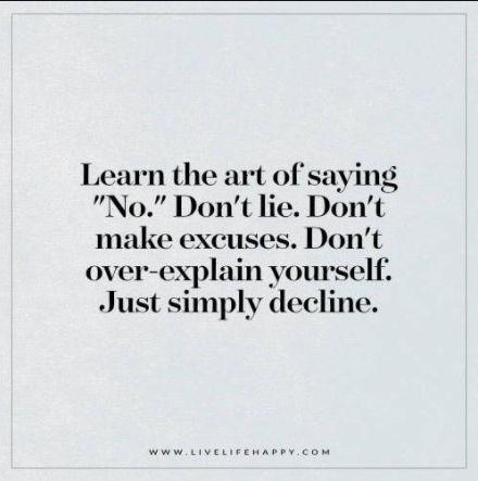 [Image] Learn the art of saying 'no'