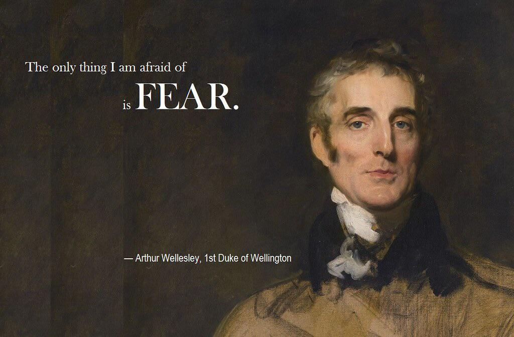 """The only thing I am afraid of is fear""—Arthur Wellesley, Duke of Wellington [1024×672]."