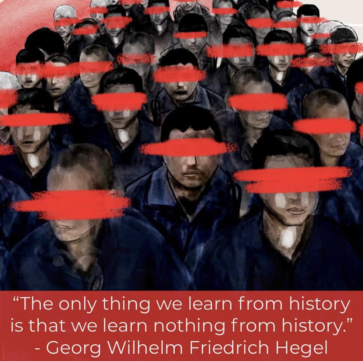 The only thing we learn from history is that we learn nothing from history – Hegel [1080 x 1080]