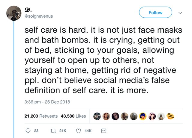 [Image] Self care