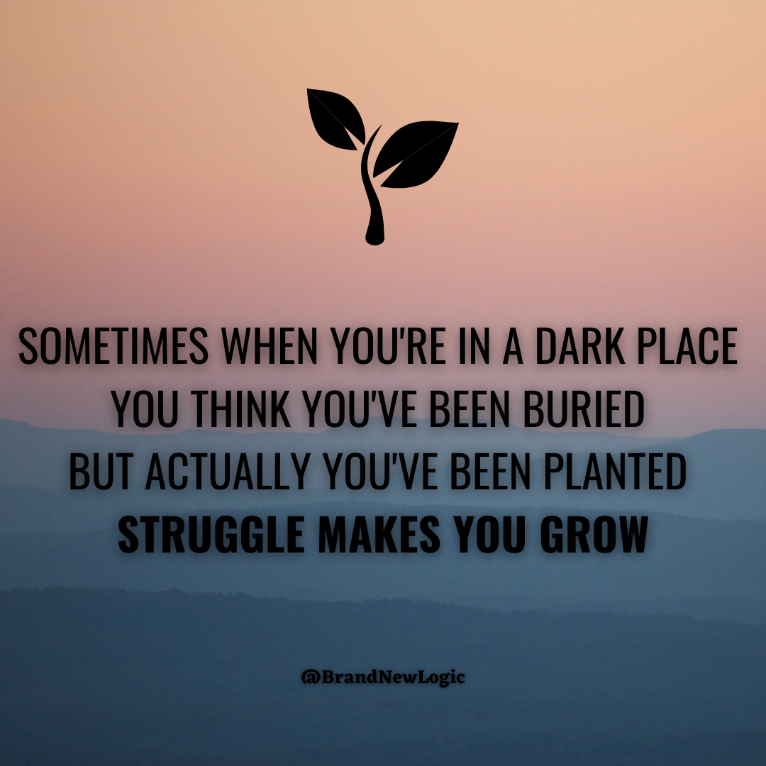 """Sometimes when you're in a dark place you think you've been buried but actually you've been planted, struggle makes you grow"" – Christine Caine [1080×1080]"