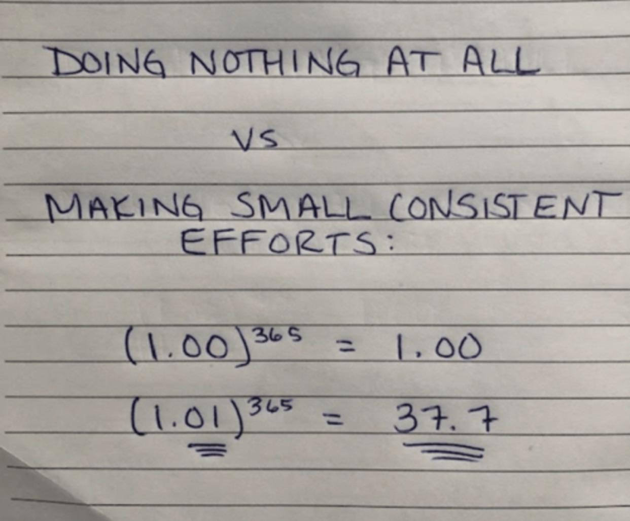 [IMAGE] Small efforts count! Do something, anything.
