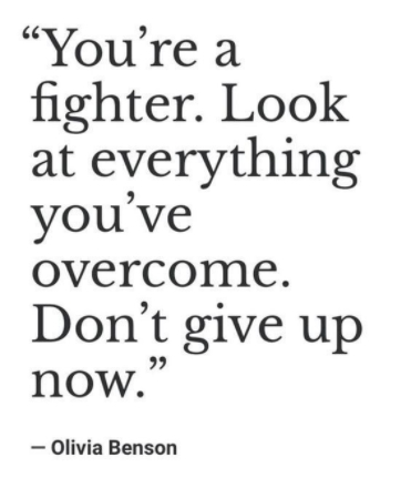 [Image] You are a fighter