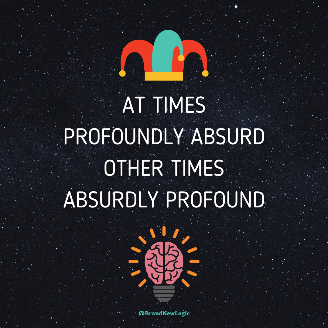 """At times profoundly absurd, other times absurdly profound"" – Lex Fridman [1080×1080]"