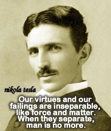 Nikola Tesla Wisdom of the Day [430×508]