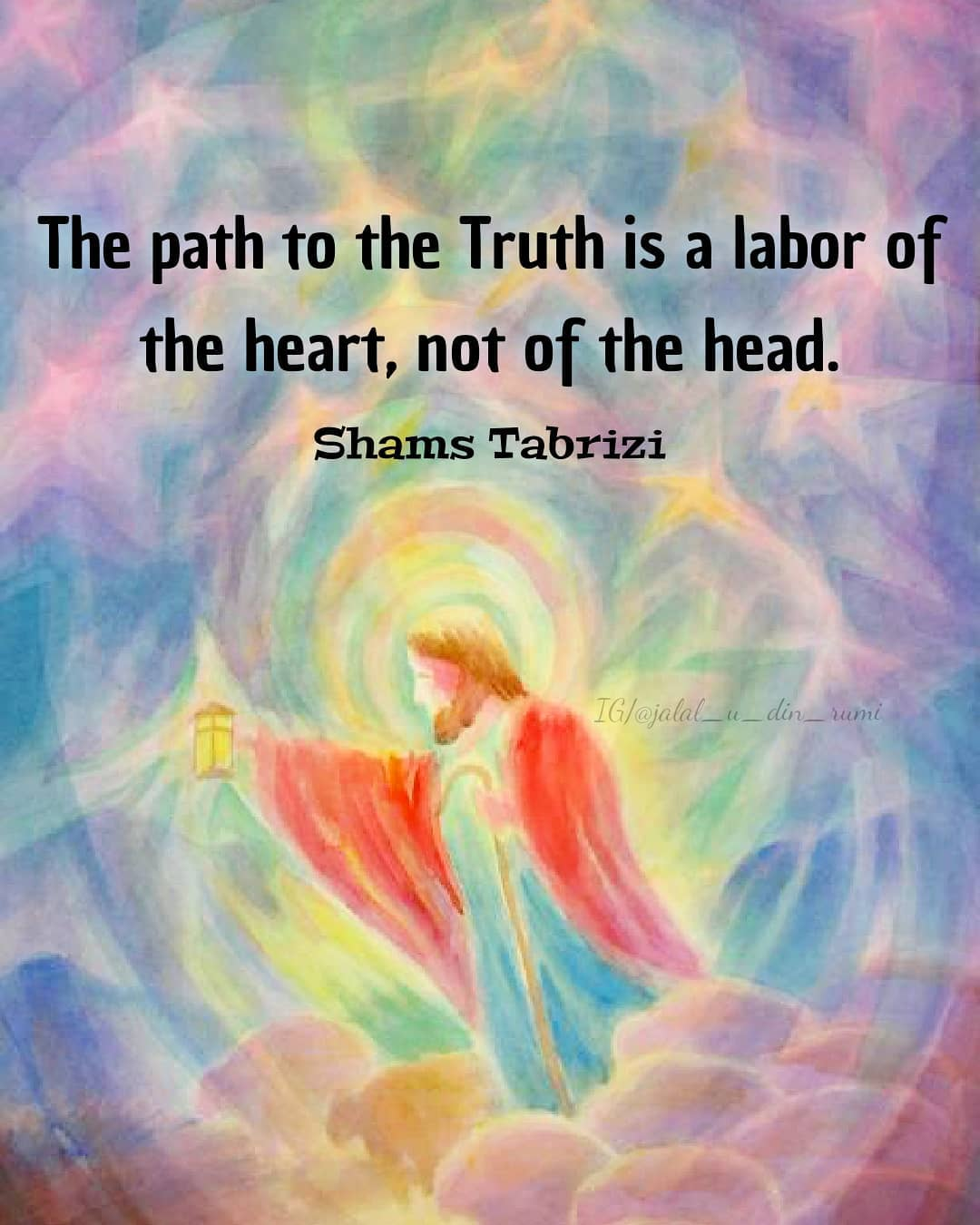 The path to the truth is a labor of Heart , not of the Head [1080×1350]