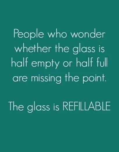 [Image] The glass is refillable.