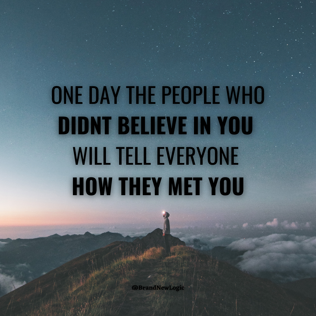 """One day the people who didn't believe in you will tell everyone how they met you"" – Johnny Depp [1080×1080]"