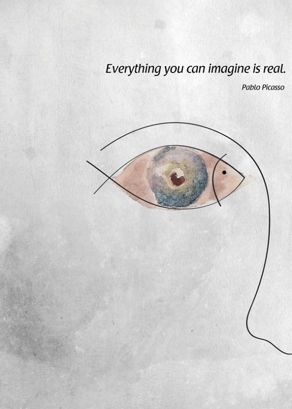 Everything you can imagine is real – pablo picasso ❤ [591×828]