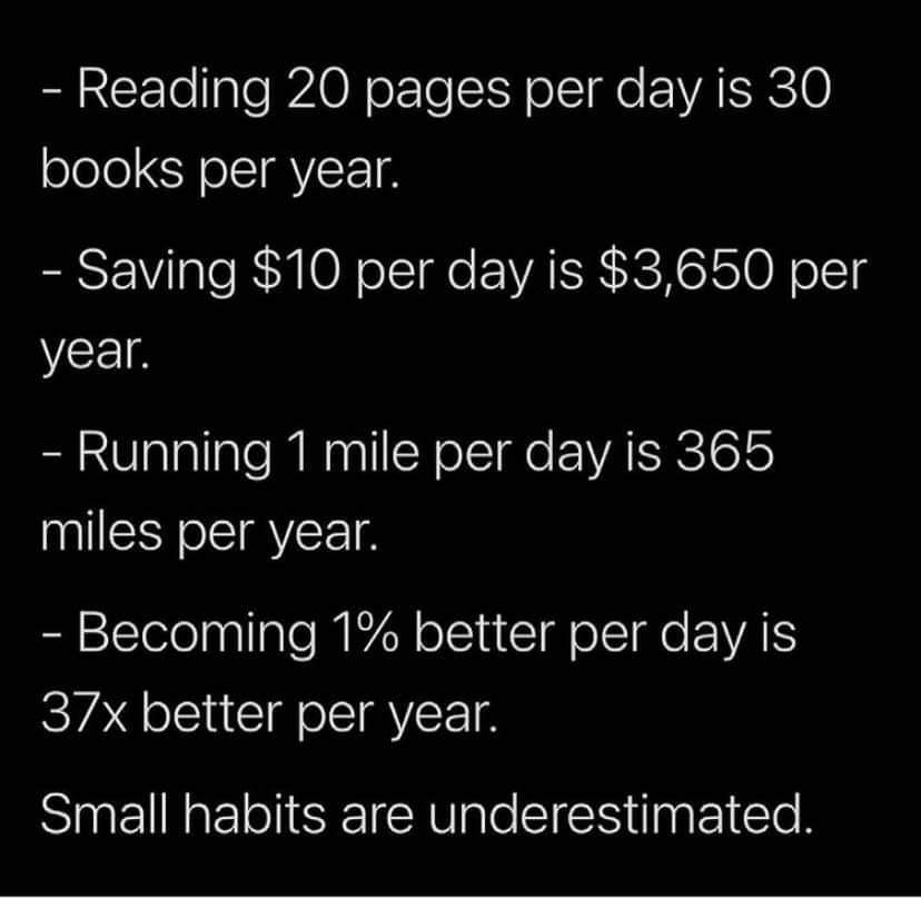[Image] Small habits make a big difference!