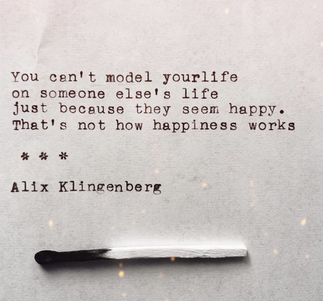 [Image] Build your own model of happiness without trying to imitate others.