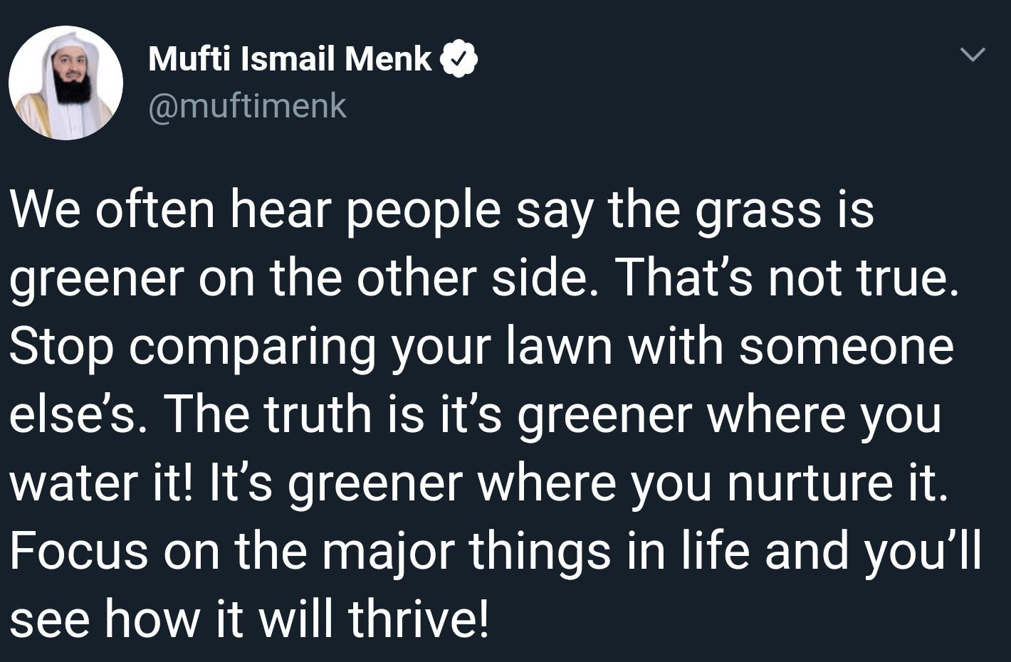 """the grass is greener where you nurture it"" [500×400]"