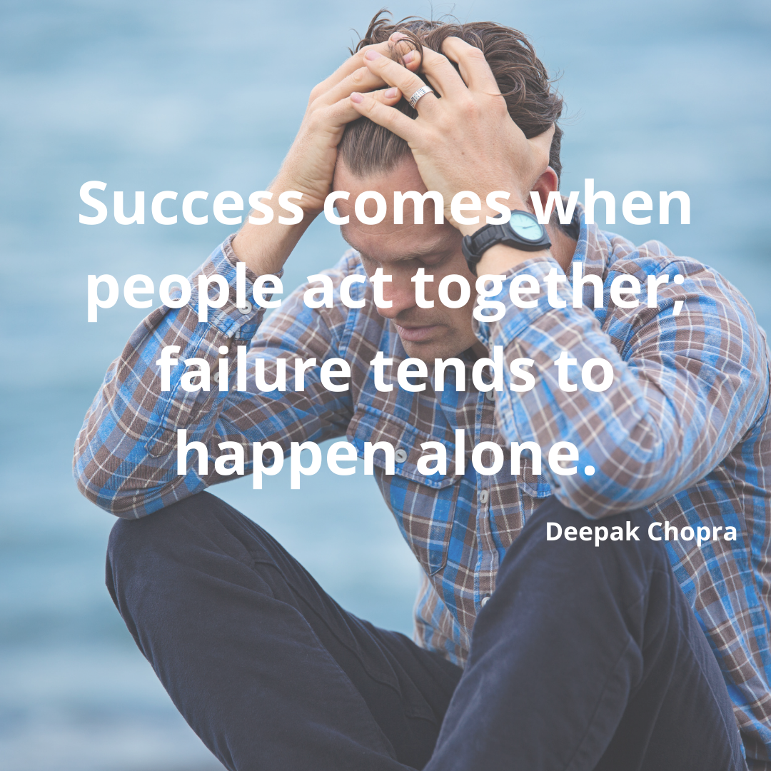 Success comes when people act together; failure tends to happen alone.-Deepak Chopra [1080*1080]