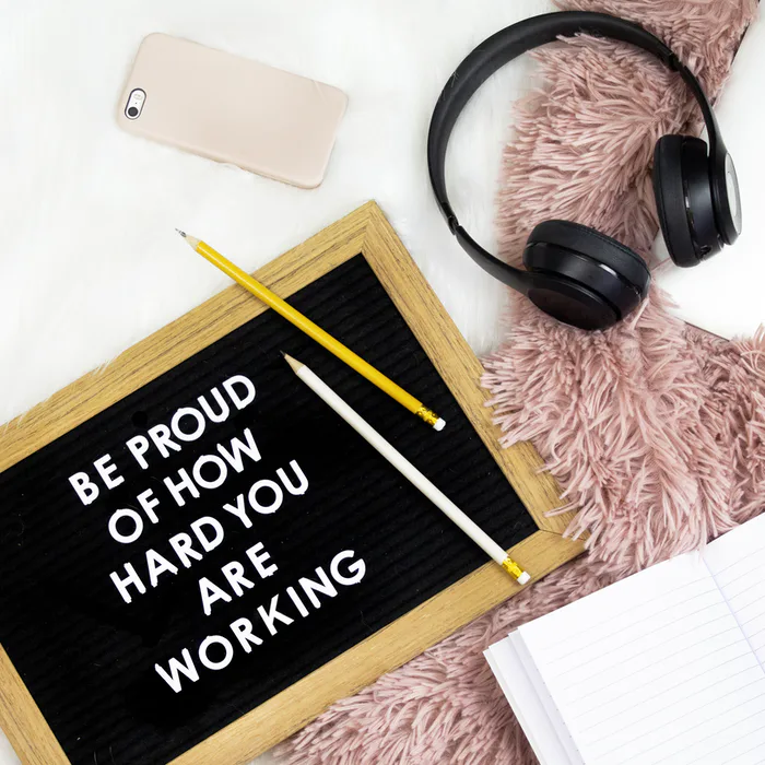[Image] Be proud of how hard you are working.