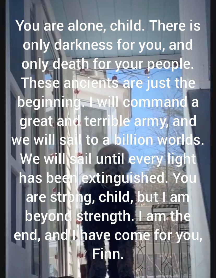 """You are alone, child. There is only darkness for you, and only death for your people. These ancients are just the beginning…"" – Thomas Herpich and Steve Wolfhard. [828×1065]"