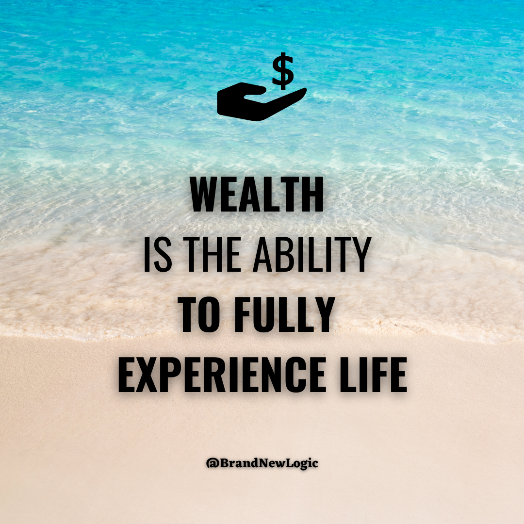 """""""Wealth is the ability to fully experience life"""" – Henry David Thoreau [1080×1080]"""