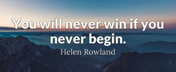[Image] You have to begin