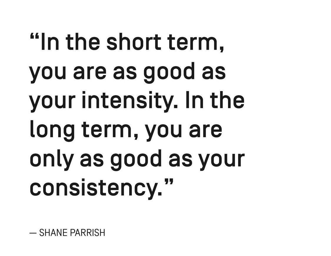 [Image] Consistency wins in the long run