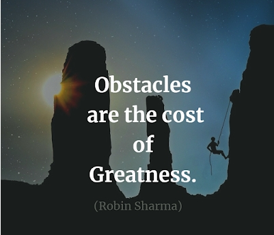 [Image] Obstacles are the cost of greatness.
